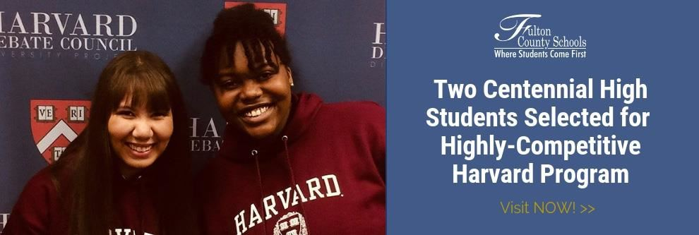 Two Centennial Juniors Chosen for Highly Selective Harvard Diversity Project