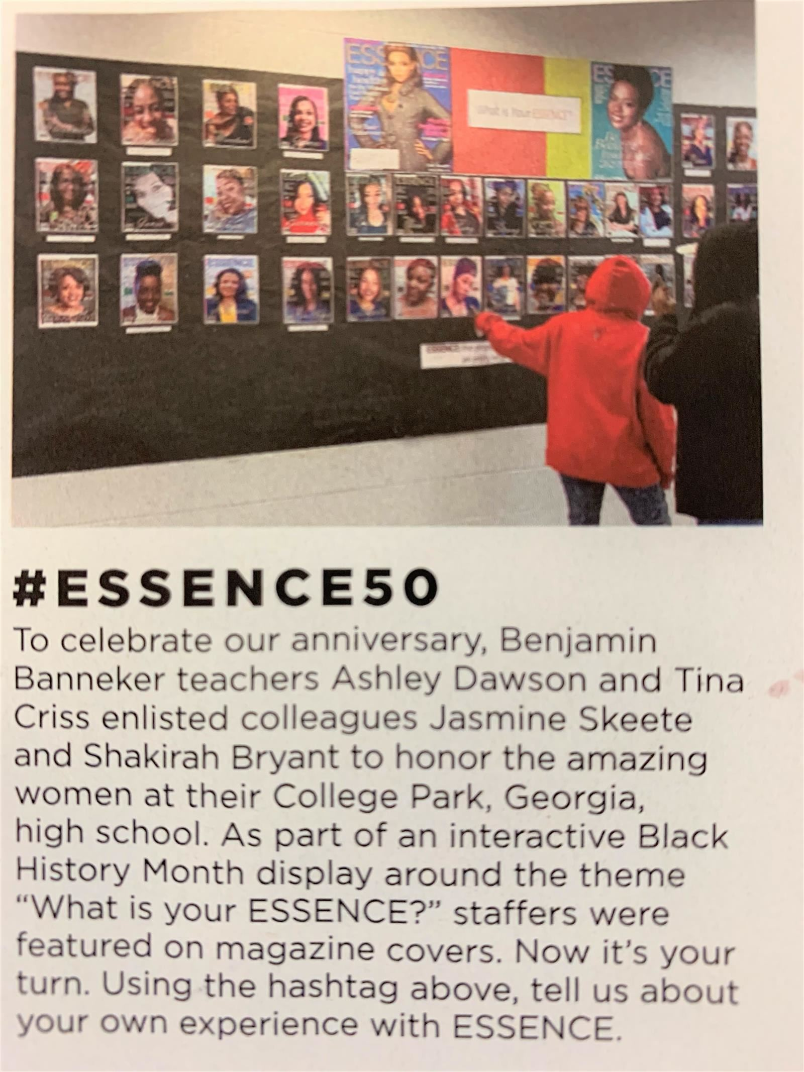 Essence magazine copy at Banneker Essence Wall